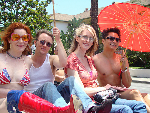 Los Angeles Pride with Calpernia, Andrea, Alec Mapa & Jim Howley