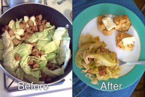 99cent Store Recipe: Delicious Cabbage with Sausage