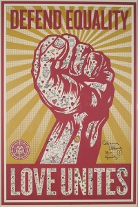 Calpernia's Shepard Fairey Print for Equality!