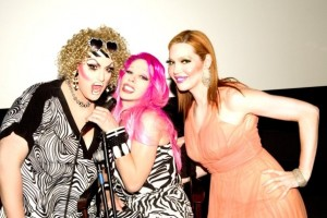 Jackie Beat, Alexis Arquette and Calpernia at Ultrafabulous