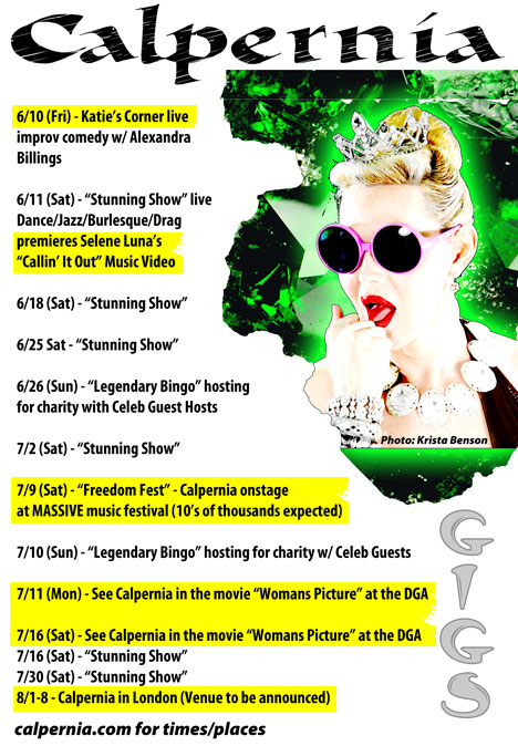 Upcoming Calpernia Live: Movie! Theatre! Music Festival! Cabaret!