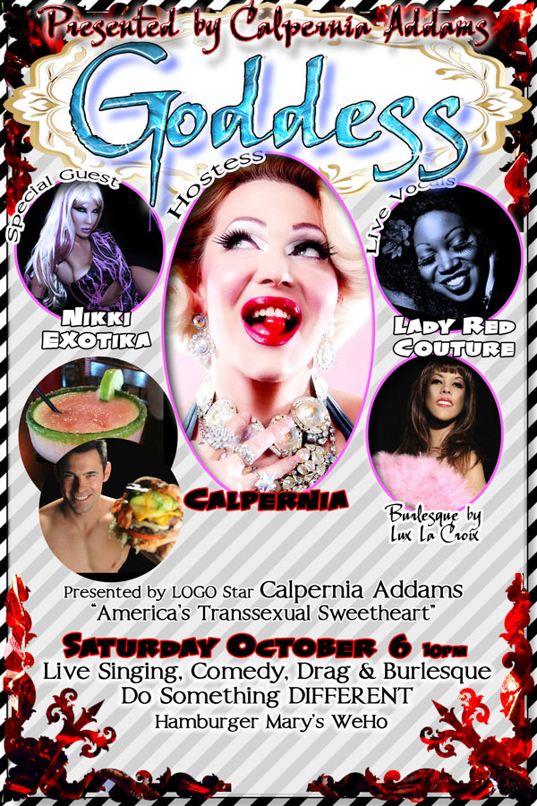 Calpernia Live Goddess Saturday 10pm