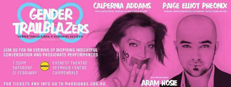 Calpernia Comes to Australia: Sydney Gay and Lesbian Mardi Gras Gender Trailblazers